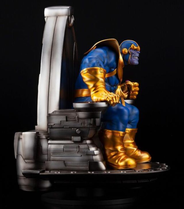 Side View of Kotobukiya Thanos Throne Statue