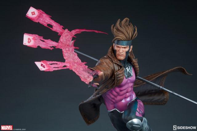 Sideshow Gambit Statue Throwing Cards X-Men Series