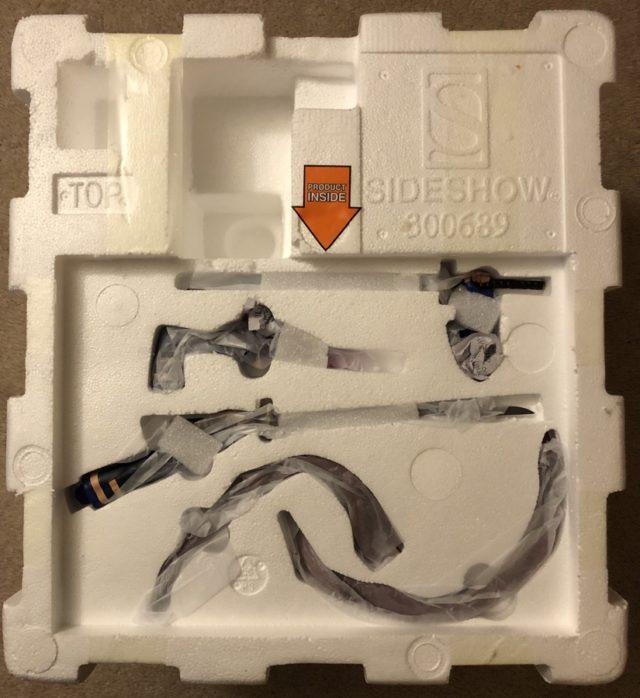 Unboxing Sideshow Psylocke Statue Styrofoam