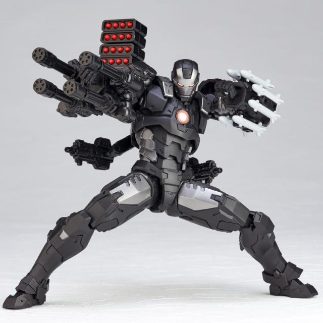 Kaiyodo War Machine Revoltech Figure with Cannons and Missiles