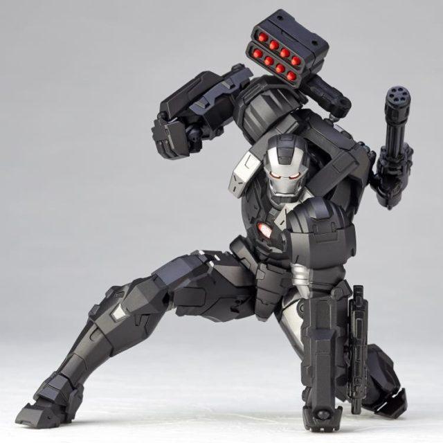 War Machine Kaiyodo Revoltech Figure Crouching and Punching Ground