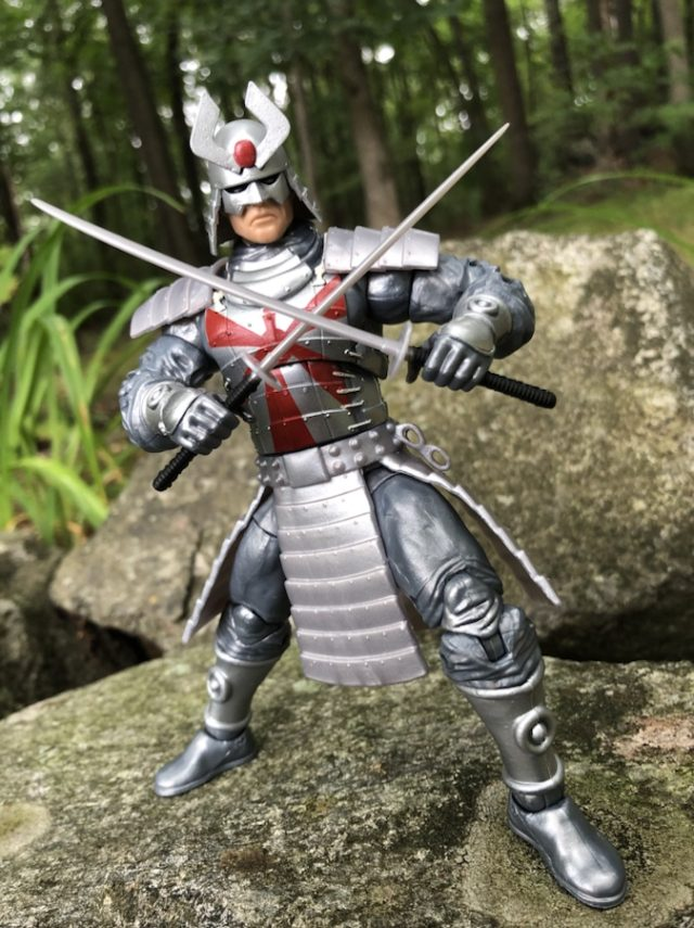 Hasbro Silver Samurai Marvel Legends Action Figure with Swords Crossed