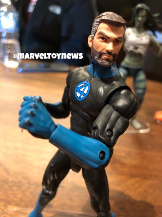 NYCC 2019 Mr Fantastic Marvel Legends Figure Close-Up Bearded Reed Richards