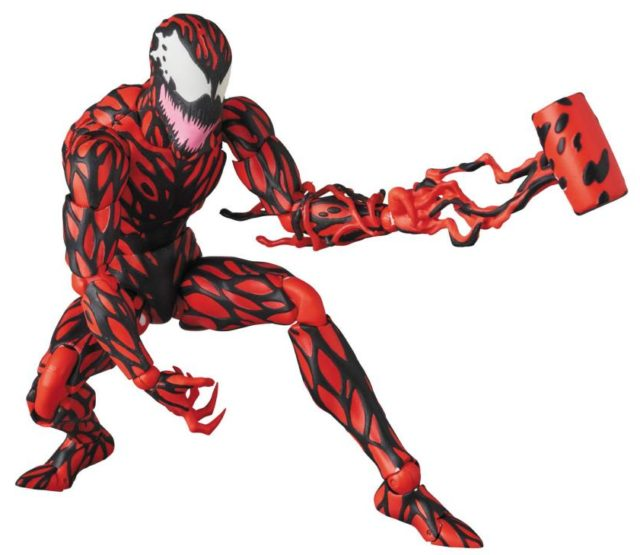 Carnage MAFEX Figure with Symbiote Tendil Hammer Mallet Hand