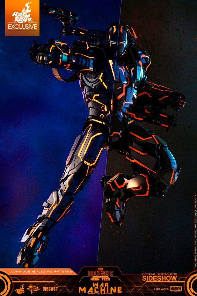 Hot Toys Neon Tech War Machine Tron Exclusive Figure
