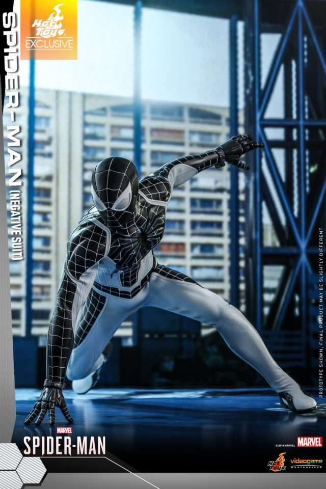 Hot Toys PS4 Spider-Man Negative Zone Suit Costume 12 Inch Figure