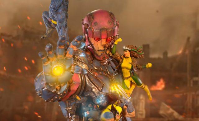 X-Men vs. Sentinel Statue Diorama BDS Iron Studios