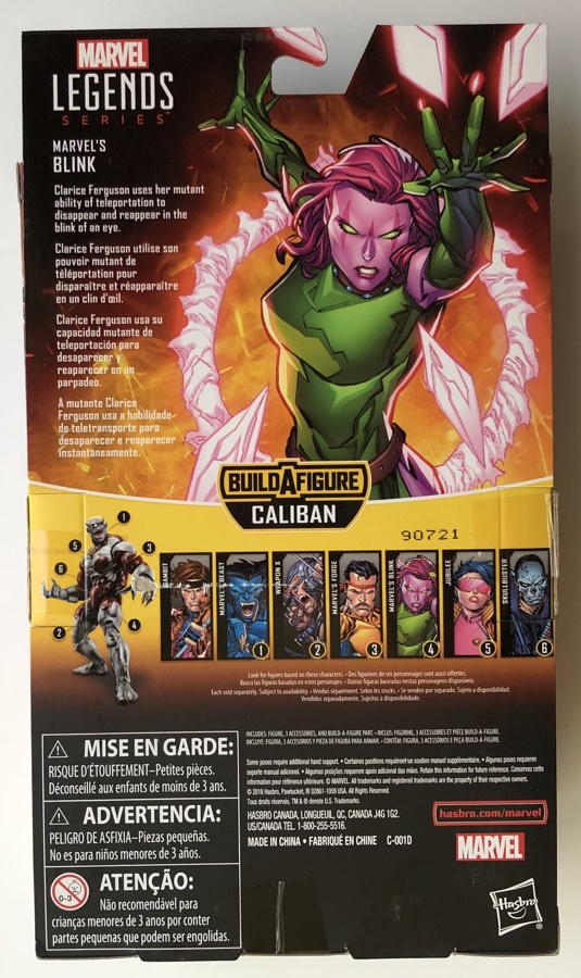 Box Back Blink Marvel Legends X-Men Caliban Series