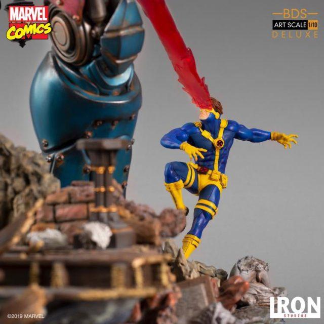 Iron Studios Cyclops Statue Shooting Optic Blast