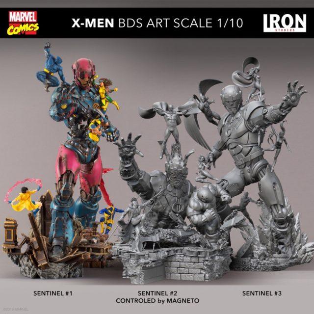Iron Studios X-Men vs. Sentinels Concept Art Sentinel 1 2 3