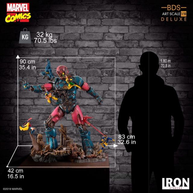 Scale Photo of 3 Foot Tall Sentinel Statue Iron Studios BDS