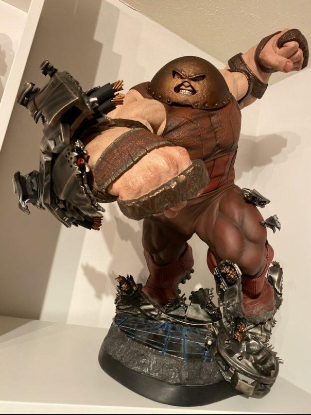Sideshow Juggernaut Maquette on Danger Room Base
