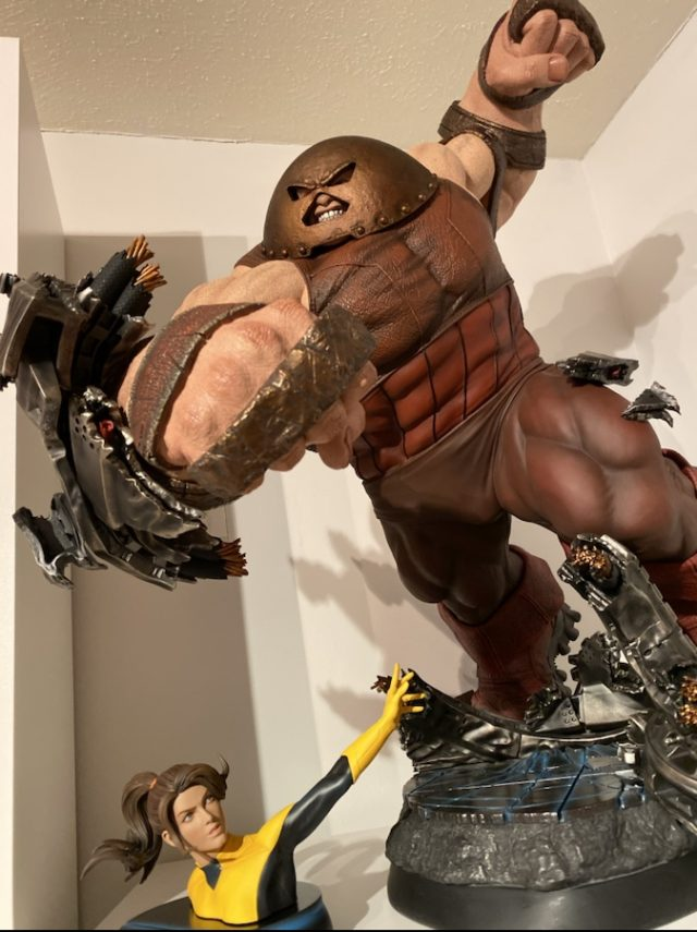Review Sideshow Juggernaut 1/4 Statue EX with Kitty Pryde