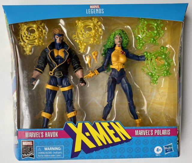 X-Men Legends Havok Polaris Two-Pack Box