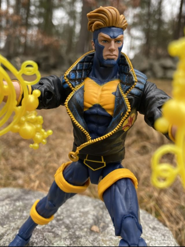 Close-up of 90s Havok Marvel Legends Figure