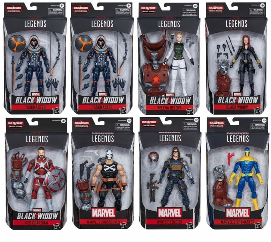 "CRIMSON DYNAMO BAF Marvel Legends 6/"" Black Widow Wave 1 Crossbones"