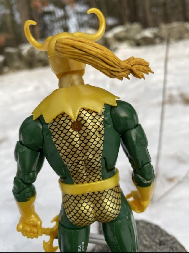 Back of Avengers Endgame Legends Loki Hasbro Figure