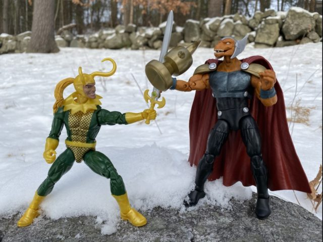 Avengers Marvel Legends Loki vs Beta Ray Bill Figures