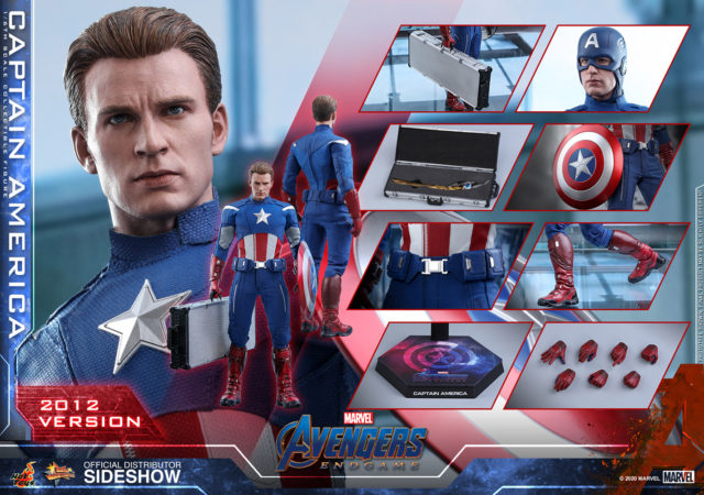 2012 Captain America Hot Toys MMS 563 Sixth Scale Figure and Accessories
