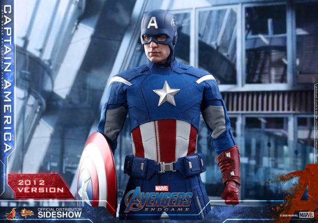 Avengers Endgame Hot Toys Captain America 2012 Time Heist Figure Masked
