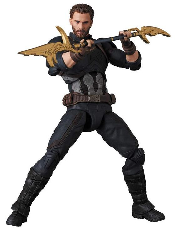 Captain America with Proxima Midnight Staff MAFEX Avengers Action Figure
