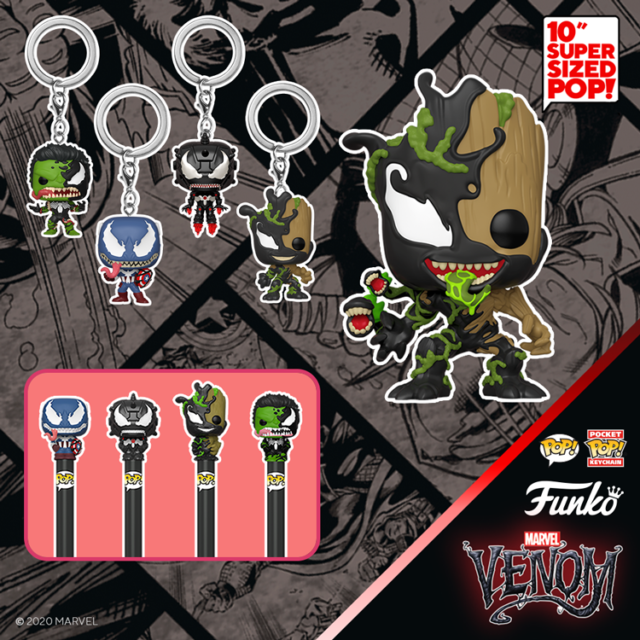 Funko POP Venomized Keychains and Super Sized Venom Groot
