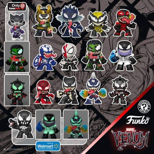 Funko Venomized Mystery Minis Figures 2020 Gamestop Exclusives