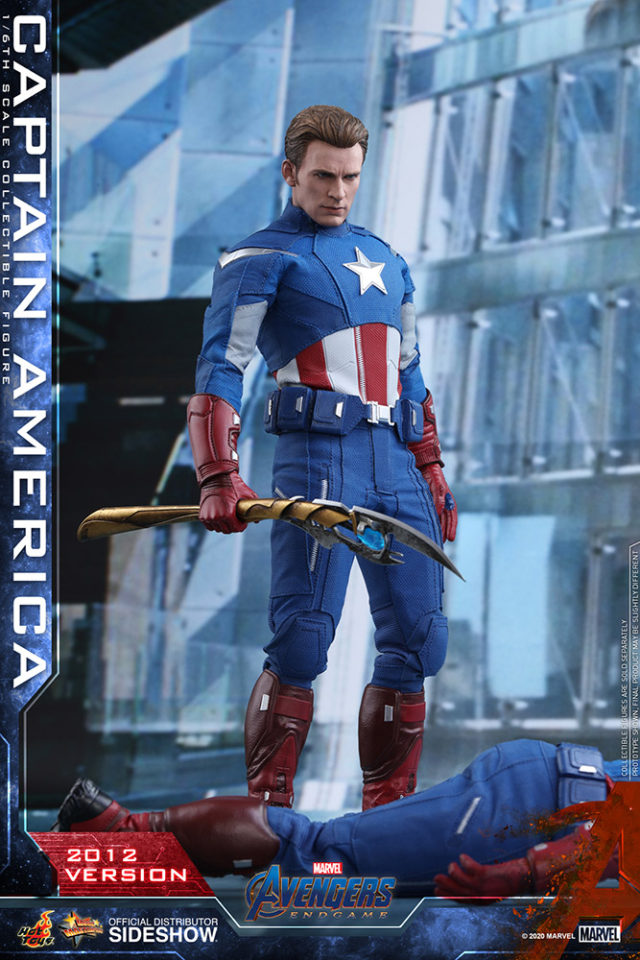 Hot Toys Endgame Captain America Looking at Americas Ass