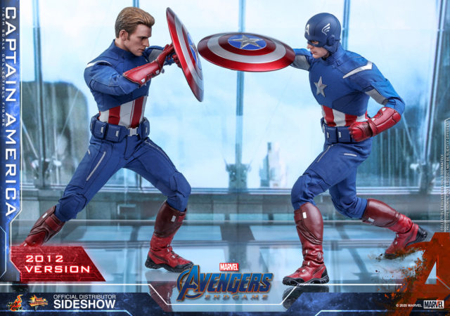 Hot Toys Endgame Captain America vs 2012 Cap Figures