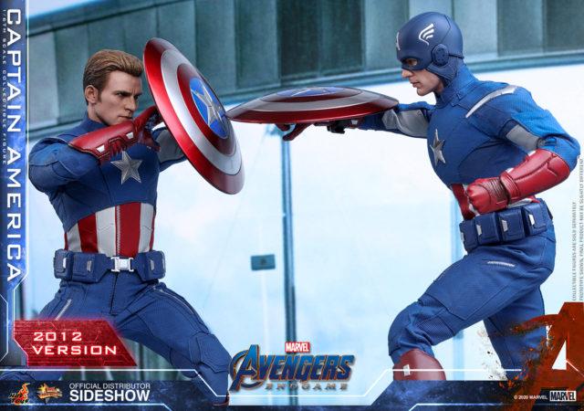 Hot Toys MMS563 Captain America 2012 Version Battle