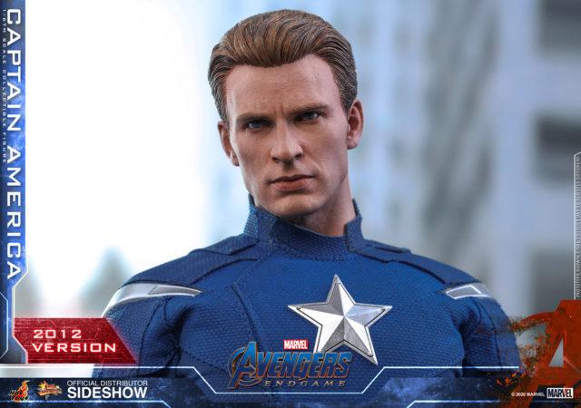 MMS 563 Captain America 2012 Hot Toys Unmasked Chris Evans Head