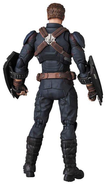 Medicom Mafex Avengers Infinity War Captain America Figure Back