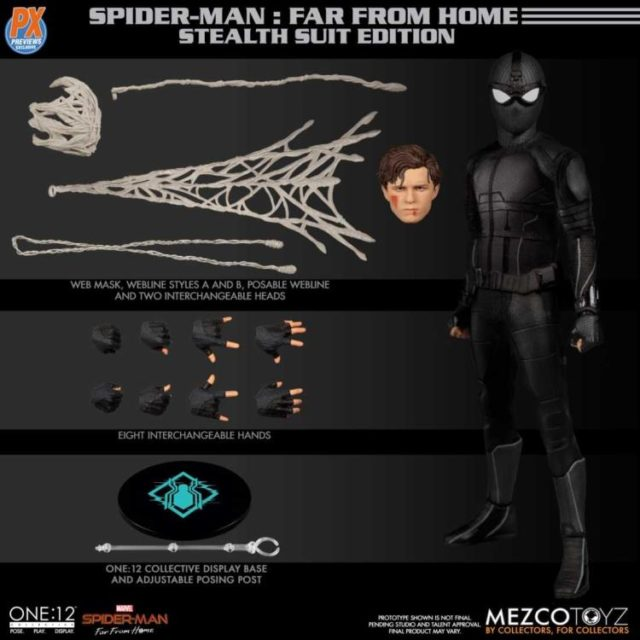 ONE12 Collective Stealth Suit Spider-Man Figure and Accessories