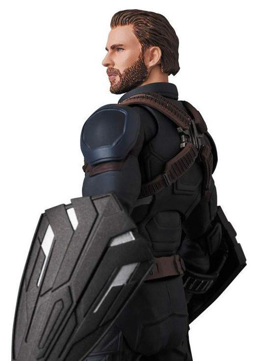 Side View of Medicom Captain America MAFEX Infinity War Movie Figure