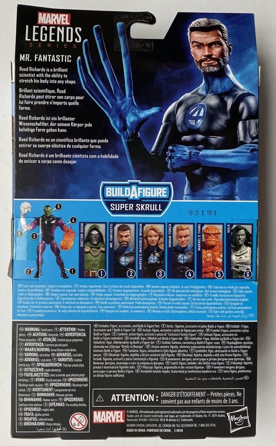 Box Back 2020 Marvel Legends Reed Richards Package
