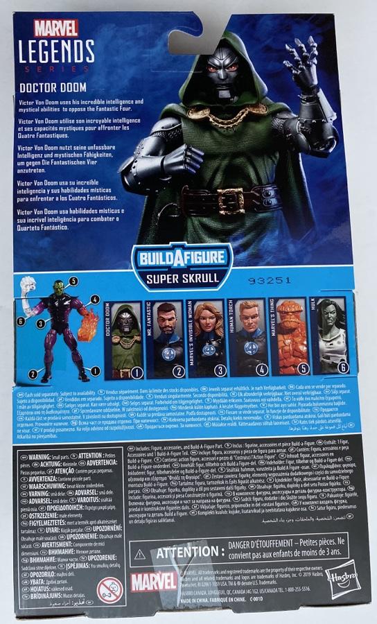 2020 Marvel Legends Doctor Doom Box Back