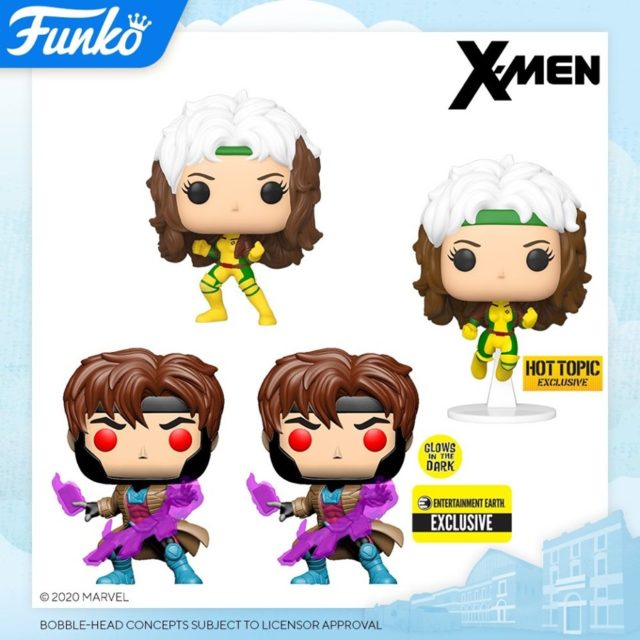 Funko POP Vinyls Gambit and Rogue Figures