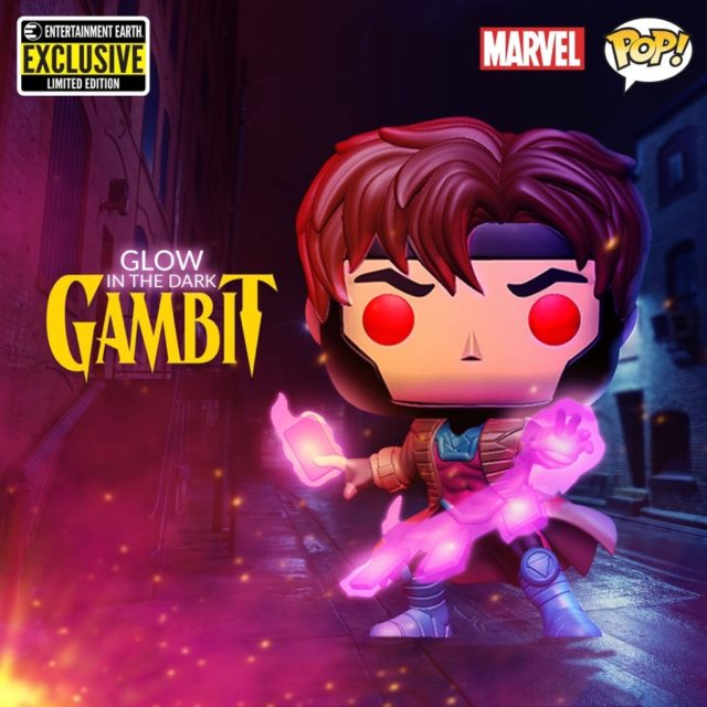 Entertainment Earth Gambit Exclusive Glow in the Dark POP Vinyl Figure