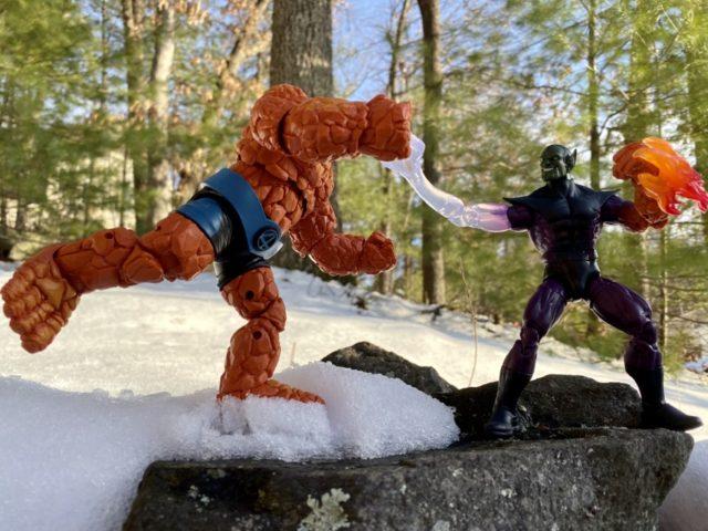 Fantastic Four Marvel Legends Super Skrull Build A Figure vs Thing