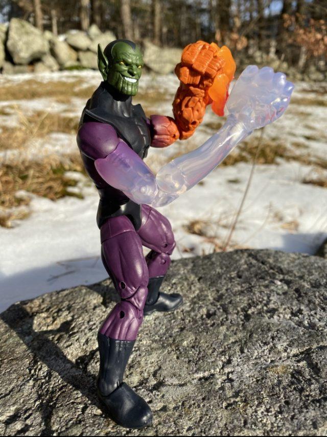 Side View of 2020 Marvel Legends Super Skrull Action Figure