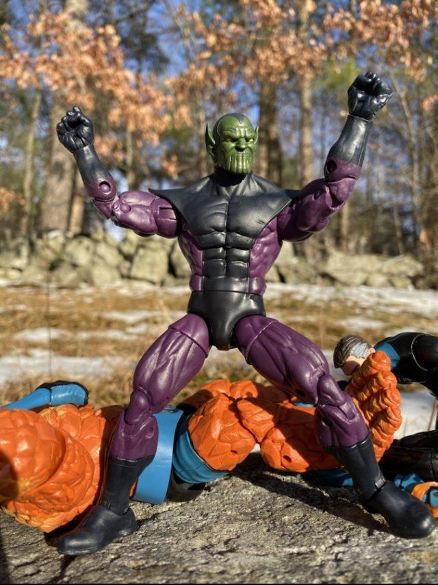 Marvel Legends Super Skrull BAF with Army Builder Arms