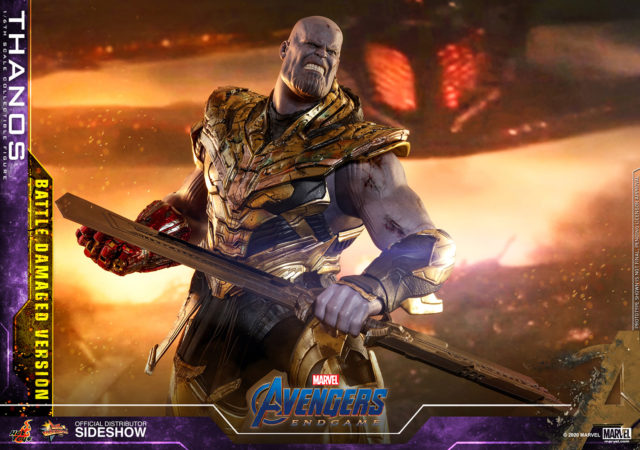 Battle Damaged Hot Toys Avengers Endgame Thanos Action Figure