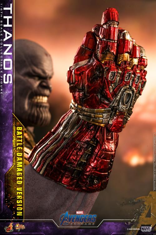 Hot Toys Battle Damaged Thanos Nano Gauntlet with Missing Infinity Stones
