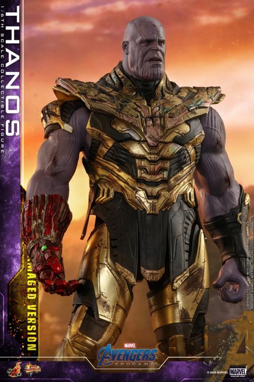 Hot Toys Thanos Battle Damaged Version Figure with new Sad Head Sculpt