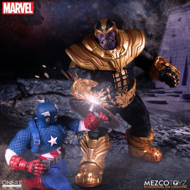 Mezco Marvel ONE12 Collective Thanos vs Captain America