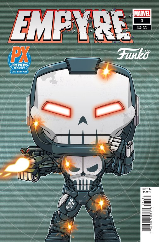 PX Exclusive Empyre 1 Variant Cover War Machine Punisher