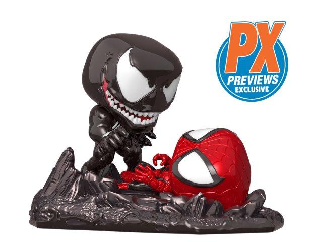 Previews Exclusive Funko POP Venom vs Spider-Man Comic Moments Set