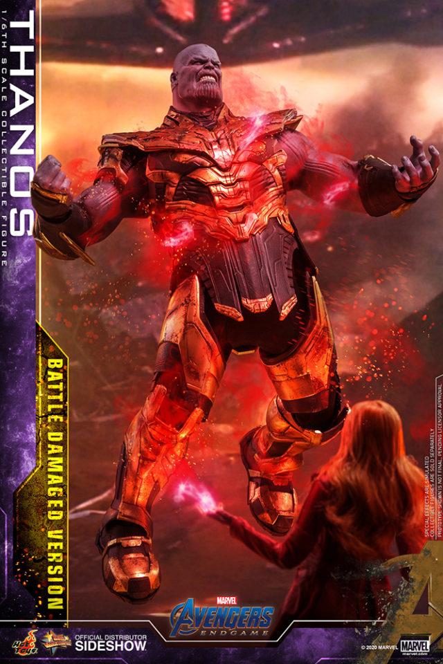 Scarlet Witch Hot Toys vs Thanos Battle Damaged 16 Inch Figure