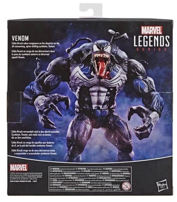 Marvel Legends 2020 Venom Box Back
