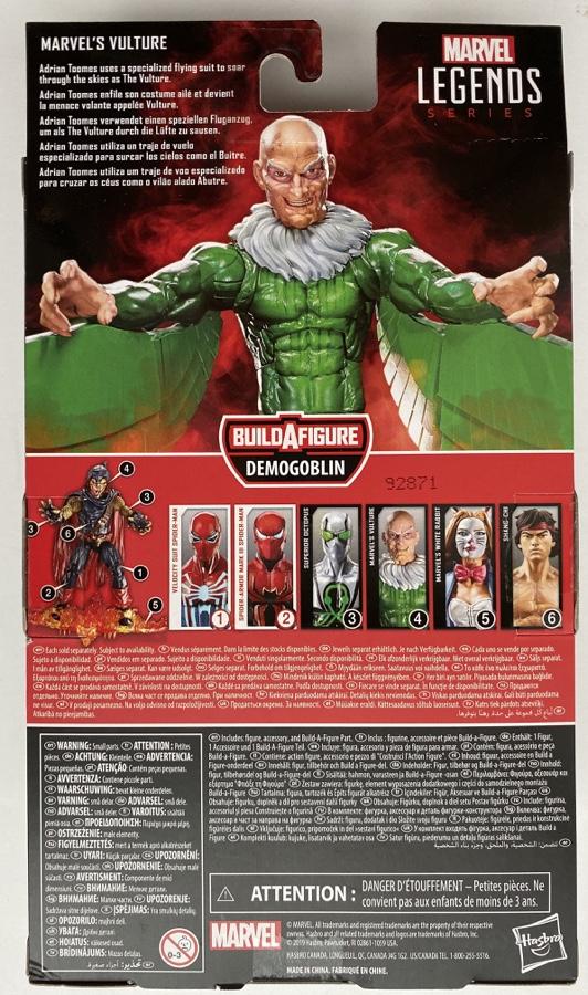 Hasbro Spider-Man Legends 2020 Vulture Figure Box Back